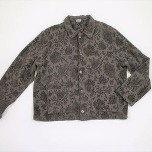 CP Shades Small Tapestry Jacket Plush Button Front
